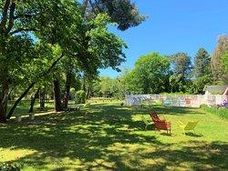 Le parc arboré pour un moment détente