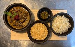 """""""Sarrapatel"""", o nosso tradicional sarapatel é cozido com vinho branco, linguiça de maragogipe, shimeji e finalizado com mostarda Dijon !!! Disponível diariamente no nosso cardápio"""