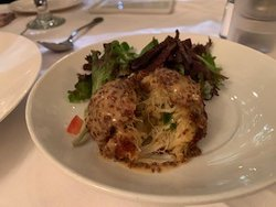 The jumbo crab cake - do not order if you are hoping for fresh juicy chunks of crab.