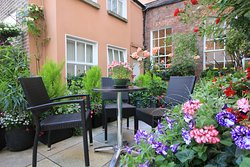 The view of our rear outdoor terrace.