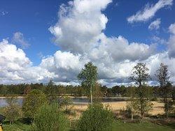 Fantastisk udsigt fra værelserne på Villa Ekebacken
