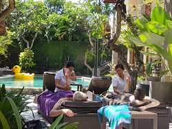 Pamper yourself with Balinese massage by the poolside