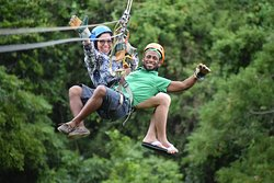 South Shore Zip-line located in West Bay, Roatan.