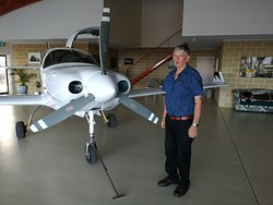 Gary and his wife Gaye are the proud new owners of Hangar House. He flew his Lancair around the world in 80 hours flying time