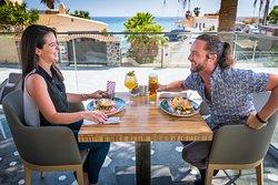 Enjoying our brunch menu out on the sun terrace
