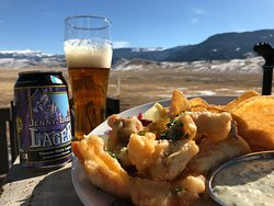 Fish & Chips and a Snake River Brew