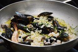 Risotto alla pescatora - Gusto Glam - Ristorante pesce Ostia
