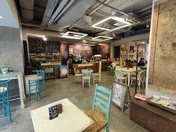 Das konzept von Innen - Café und Shopping