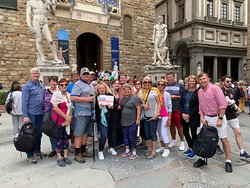 CBM Clients from NCL Jade cruise ship enjoying Florence tour accompanied by Chiara & Petro