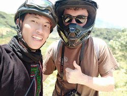 One day motorbike trek with my friend from USA.