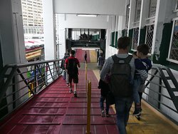 On the way to board the Star Ferry 1