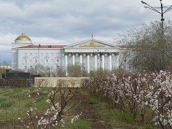 Lenin Square, Chita, Russia. Lenin Square is in a very pleasant area of downtown Chita.