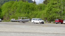 Getting ready to launch at Moresby Camp - ~45 minutes from Sandspit