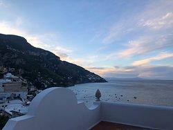 Sunrise view from my private terrace at La Casa di Peppe!