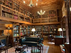 All the rooms are beautiful. This is the working library.