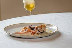Selezione di piatti di cucina gourmet