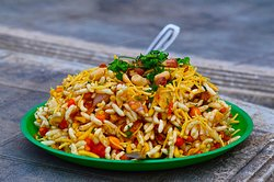 Delicious Bhel puri, Sev puri and Pani puris also on the menu.