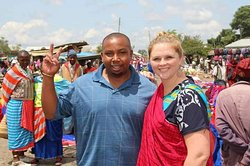 At the local market with clients from South Africa