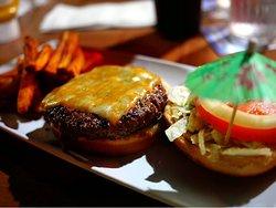 Cheese burger with an attitude