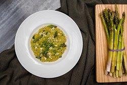 Green Pea Broad Bean Risotto