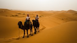 ida para o acampamento no deserto