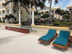 Front of Pelican Reef Villas (Pelican Nest Grill is inside).