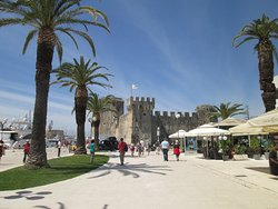 Looking down the promenade to the fortress at Trogir