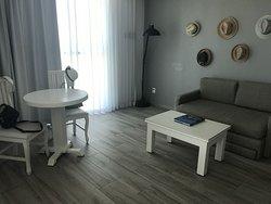 Sitzbereich in der Suite