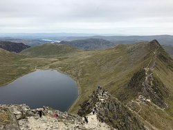Striding Edge with Red Tarn