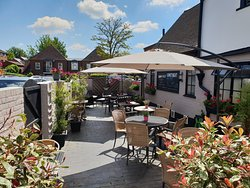 Enjoy your drink or meal in our lovely beer garden