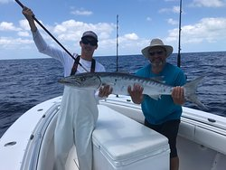 What a great day I had on the water with Captain Casey and his fist mate Brendon.  Highly recommend using Sea Monkey Fish Charters.  They know what they are doing and they know where the fish hang out. Very much with the dollars spent.  He is now at Bakers Cay Resort #bakerscayresort.