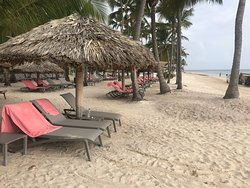 Adults only beach section at Catalonia Royal Bavaro before 7am