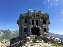 fortress in the Alps bombed during the war war 2
