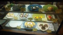 店内の手作りケーキです