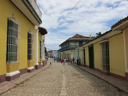 Real Café-Restaurante is located on this picturesque street Trinidad.