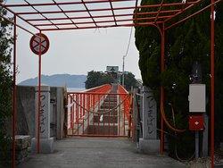 津嶋神社(本社)へは通行止め