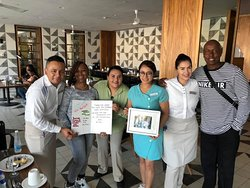 The people of BITES Restaurant are like our family, they took care of us and also helped us celebrate our birthdays from l - r santiago, my wife farah, Melissa (Supervisor) Marisol Hostess, and Abigail server and me.  They made our vacay super special