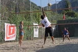 No wind: Volleyball...