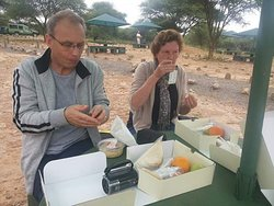 Lunch at picnic site in Tarangire national park Tanzania home Of elephants.
