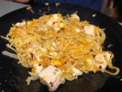 make your own stir fry-tofu, mandarin oranges, chillies