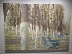 """""""Printemps dans une maison de repos des travailleurs"""" (1988) par Erik BULATOV (1933-)"""