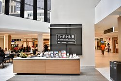 Guest Services desk at the Hub.