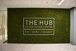 Green wall at the Hub