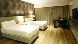 Habitación Executive Suite, armado de camas twin.