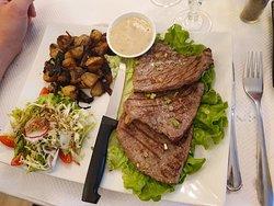 Bœuf sauce poivre avec ses pomme de terre au champignon