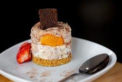Orange chocolate brownie cheesecake