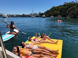 Jump onboard our Lilly pad and Stand Up Paddleboard! A great way to relax and explore the secluded bays of Sydney.