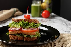 The spiced tofu sandwich is available every day from our Grab-N-Go deli case.
