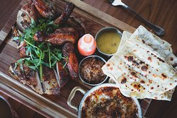 Food such as our brick-grilled chicken is better shared with family and friends