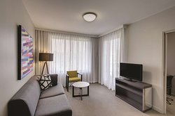 adina apartment hotel norwest sydney one bedroom apartment lounge